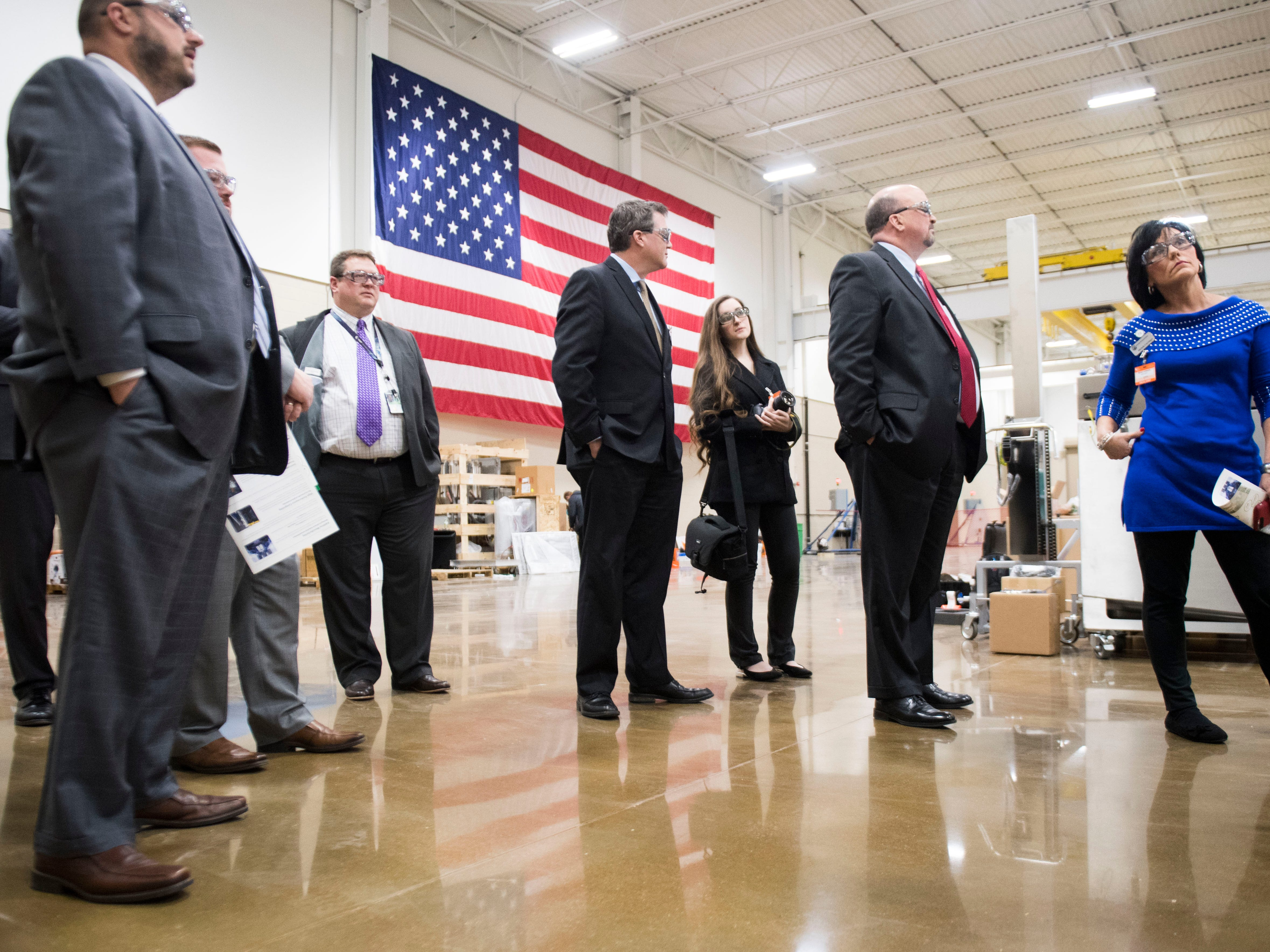 The Knox County Commision and Knoxville Chamber officials tour Oak Ridge National Laboratory's Manufacturing Demonstration Facility in Knoxville Tuesday, Dec. 4, 2018. The group got a sense of what is available for the region in terms of advanced manufacturing, and potential workforce initiatives.