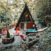 Airbnb allows travelers to book cabins in the woods as well as experiences in the mountains through its website.