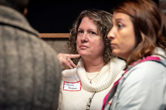 Laura Hasson from Substance Solutions attends a Brains and Grains event in Blount County, hosted by the Sky City Initiative.
