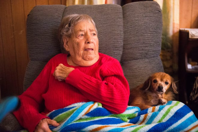 Mary Zick, 81, sits next to her dog Princess in her Knoxville home Tuesday, Dec. 4, 2018. Zick receives dialysis three times per week, and the Milk Fund has provided her with Ensure the past four to five months.