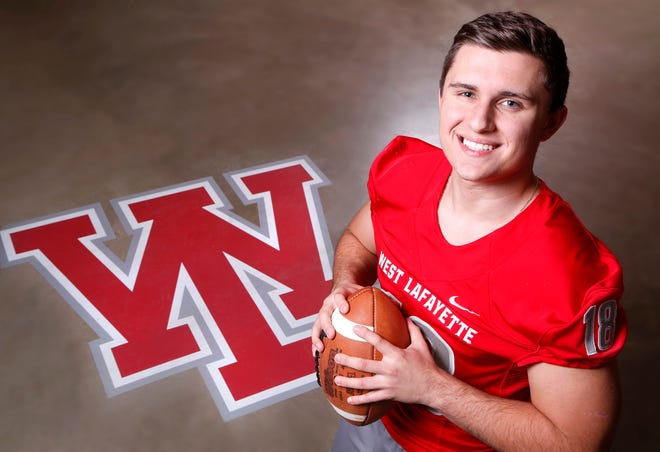 Sage Hood of West Lafayette is the 2018 Journal & Courier Big School Offensive Player of the Year.