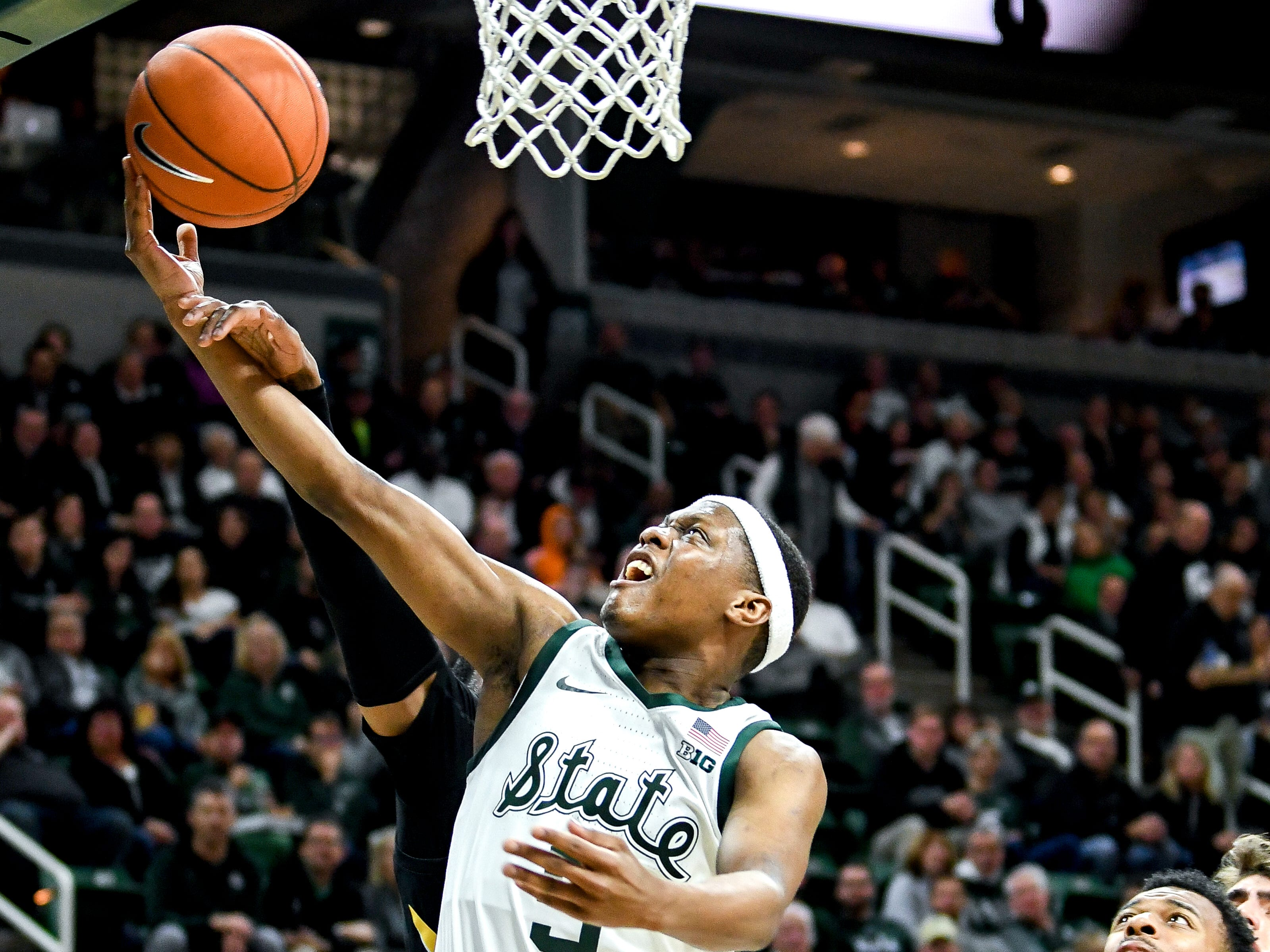 Michigan State's Cassius Winston shoots during the first half on Monday, Dec. 3, 2018, at the Breslin Center in East Lansing.