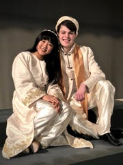 "Treehouse Theater's production of ""Disney's Aladdin JR."": Regina Lou as Jasmine and Henry Rotter as Aladdin."