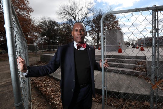 Shelby County Commissioner Van Turner of Greenspace LLC, the nonprofit that purchased Health Sciences Park from the city of Memphis last year, allowing for the removal of the park's Nathan Bedford Forrest statue.