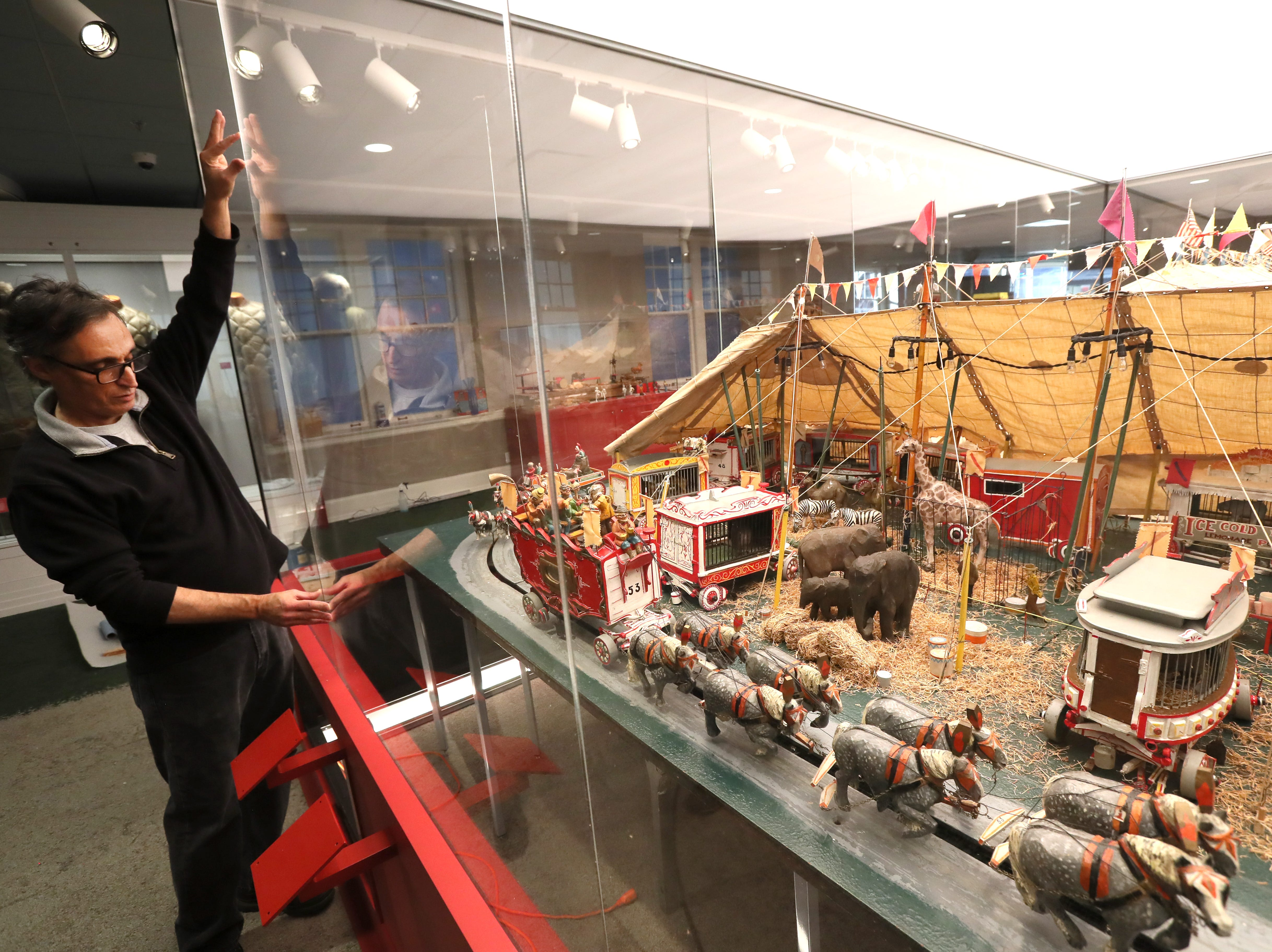 Manager of Exhibits Steve Masler discusses part of the Pink Palace Museum's nearly two-year renovation phase, a restored Clyde Parke Miniature Circus, as they set to re-open the original mansion space to the public with a VIP reception on Wednesday, Dec. 5, 2018.