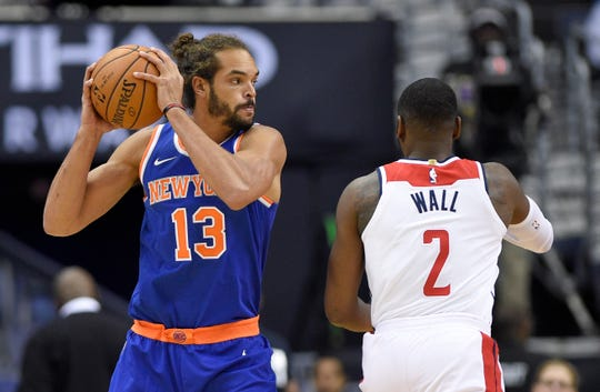 Knicks center Joakim Noah (13) missed extended time over the past three years with shoulder and knee injuries andalso was suspended for 20 games in February 2017 for taking a banned substance.