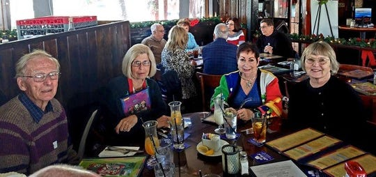 Members of the Marco Cruise Club enjoyed a luncheon at The Dock at Crayton Cove on Thursday, Nov. 29.  Todd Whitney conducted a nautical quiz with a $50.00 prize. Ginny Bauersfeld was winner of the quiz. MCC welcomes fellow boaters with large or small boats to join their events. For information visit WWW.marcocruiseclub.com or call Neil or Joanne Blaauboer at 239-642-8493