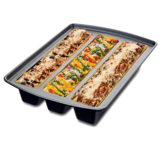 This three-sectioned pan lets you make lasagna (or cake) three different ways for diners whose tastes or diets vary.