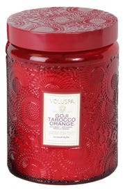 Natural essential oils and other premium ingredients go into this candle.