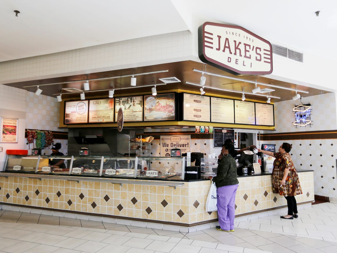 us26 - Jake's Deli in Grand Avenue Mall in downtown Milwaukee, Wisconsin on Friday, May 22, 2015. The corned beef sandwich has been Jake's Deli's most popular sandwich since 1955. (Calvin Mattheis for the Journal Sentinel)