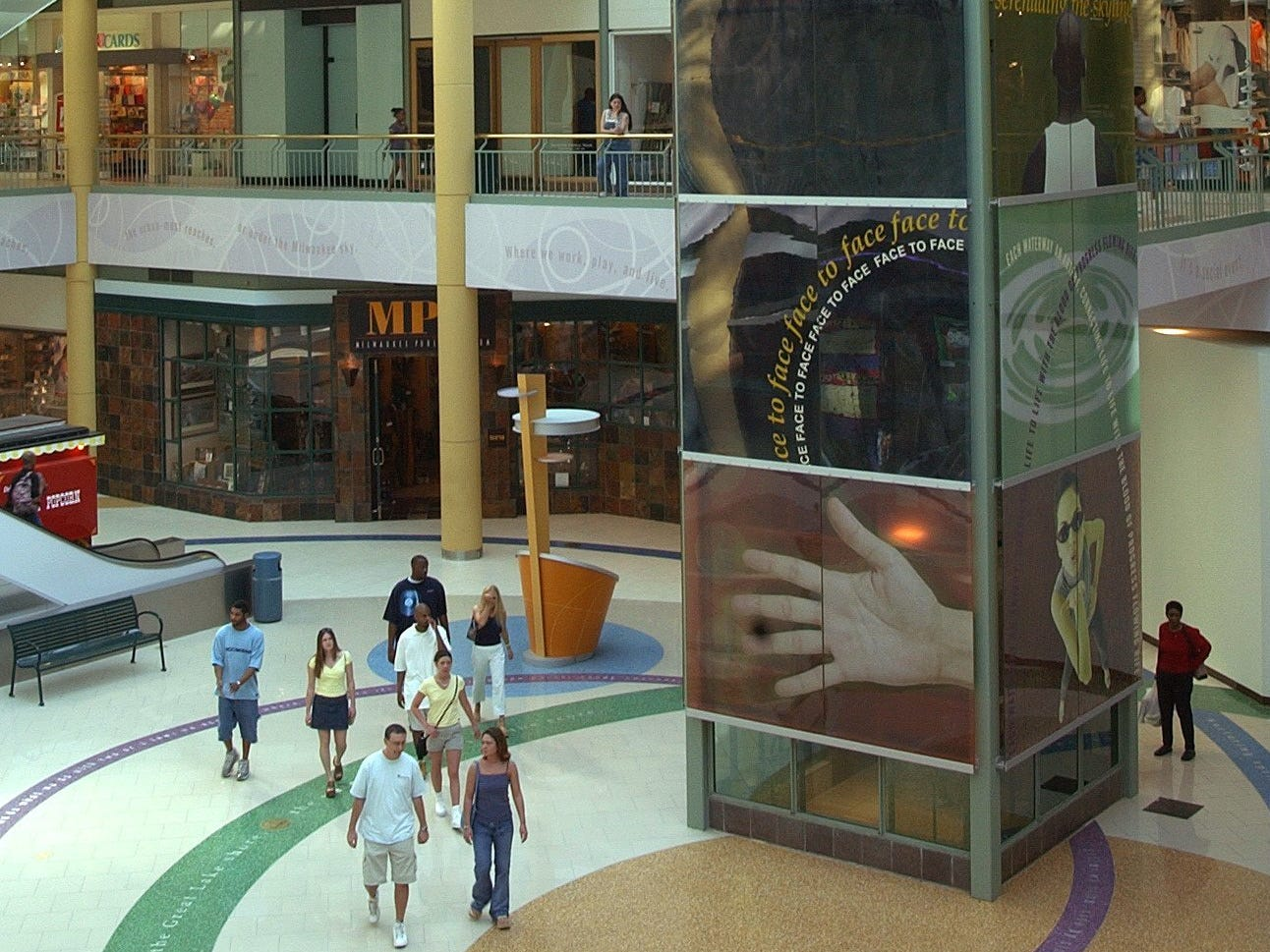March 16, 2002 Atrium area of the Grand Ave Mall.