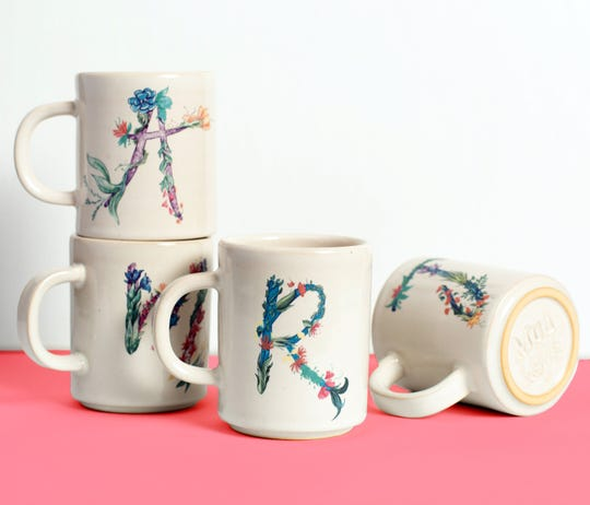Whimsica monogrammed mugs come in every letter of the alphabet.