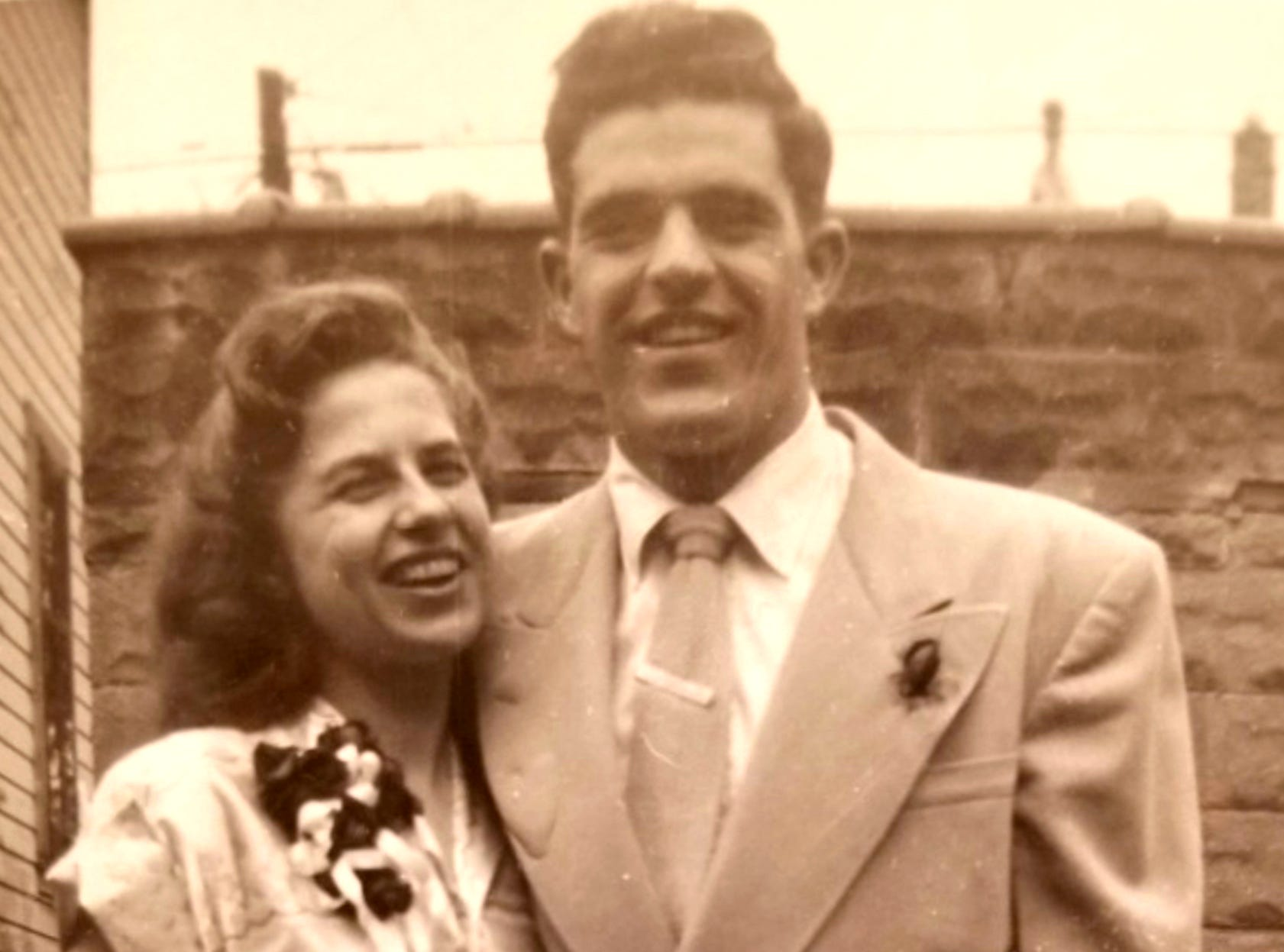 Undated photo of Bob Paquette and his wife, Ruth. They were married in 1950.
