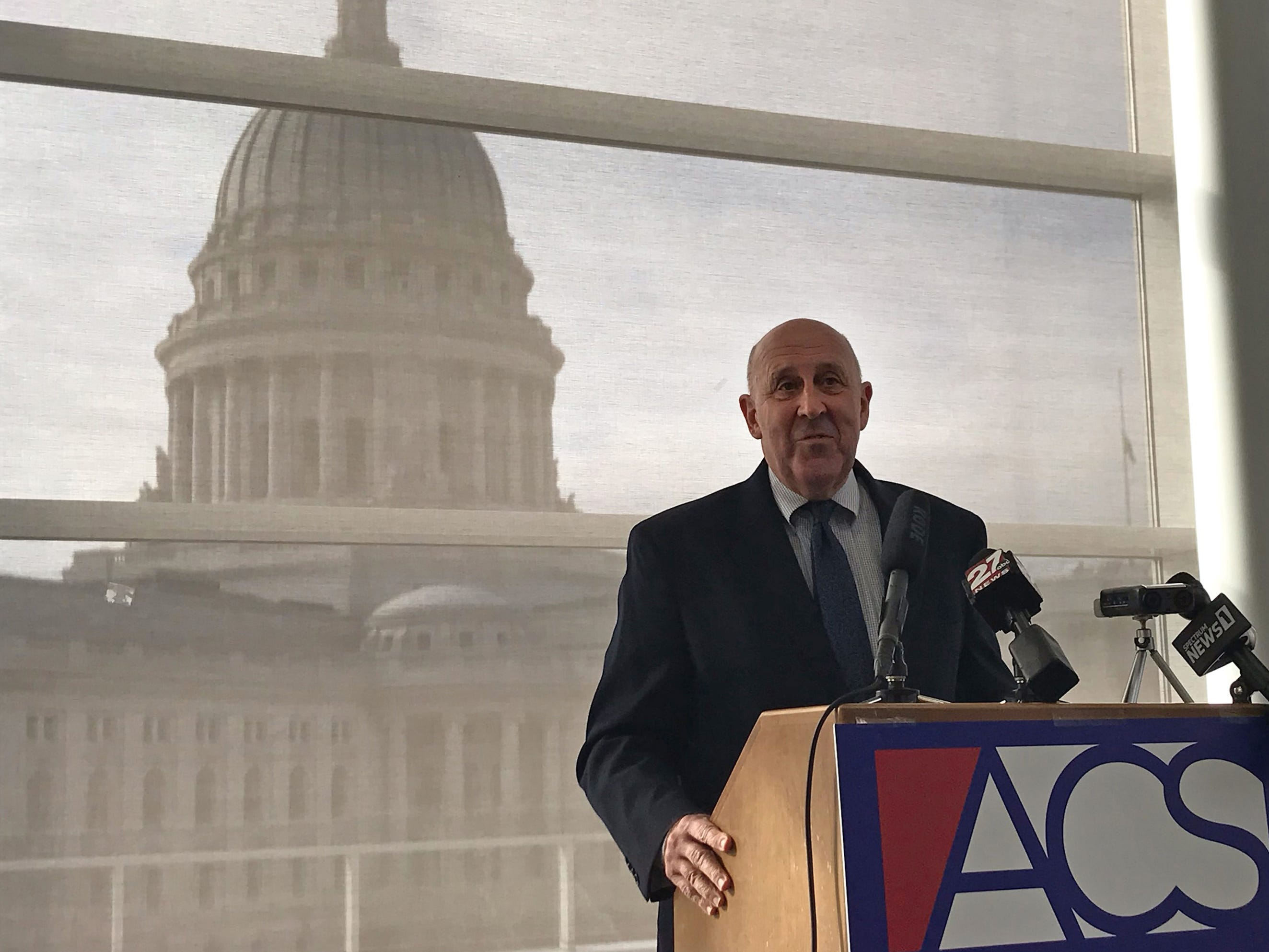 Former Wisconsin Gov. and Attorney General Jim Doyle on Tuesday blasted plans by the Republican Legislature to diminish the powers of Gov.-elect Tony Evers and Attorney General-elect Josh Kaul.