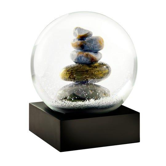 Snow globes aren't just for Christmas, or even for winter, as this cairn globe ilustrates.