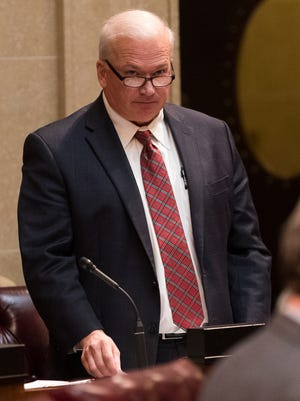 Senate Majority Leader Scott Fitzgerald is shown on the floor of the Senate. The Senate failed to pass a bill that would have required health insurers to cover people with pre-existing conditions in its lame duck session this week.