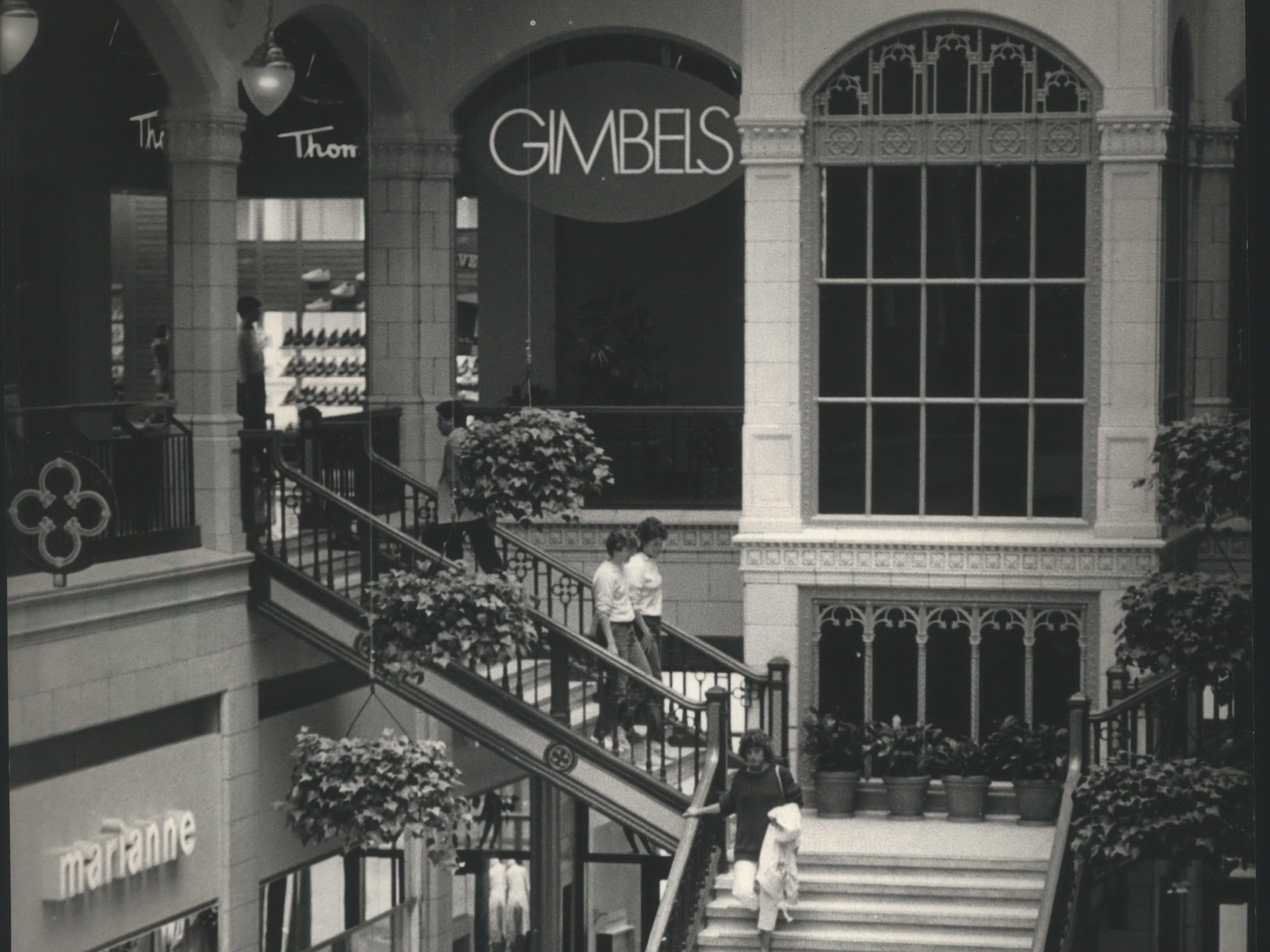 Gimbels, a view from inside the Grand Avenue.