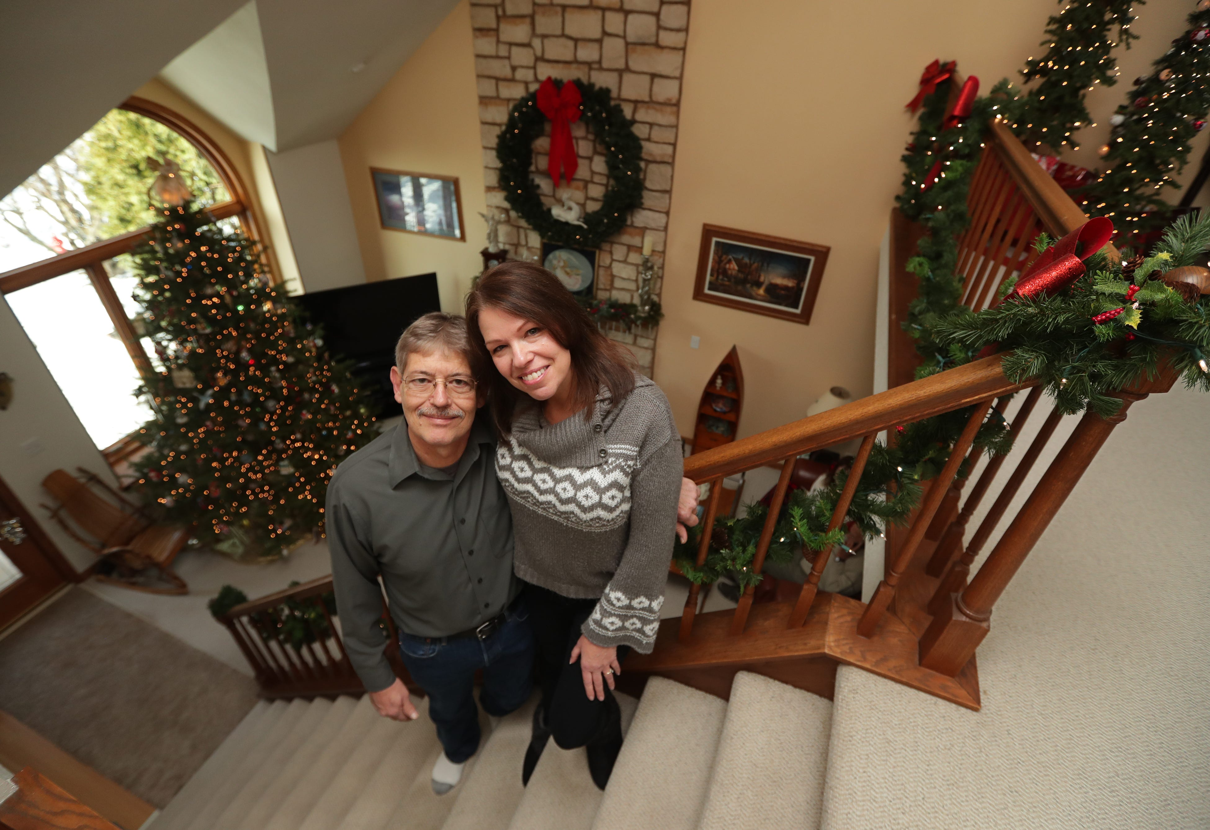 decorating your office for christmas christmas trees and decorations fill every room of this muskego home