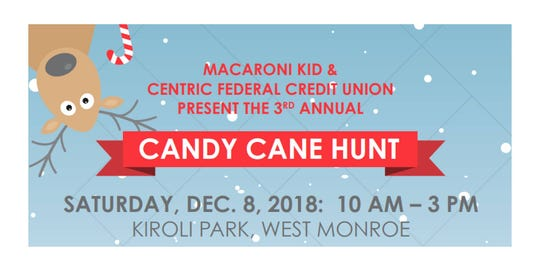 Candy Cane Hunt is Saturday.