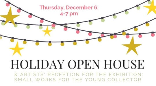 Holiday Open House & Artists' Reception is Thursday.