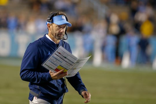 Former North Carolina head coach Larry Fedora.
