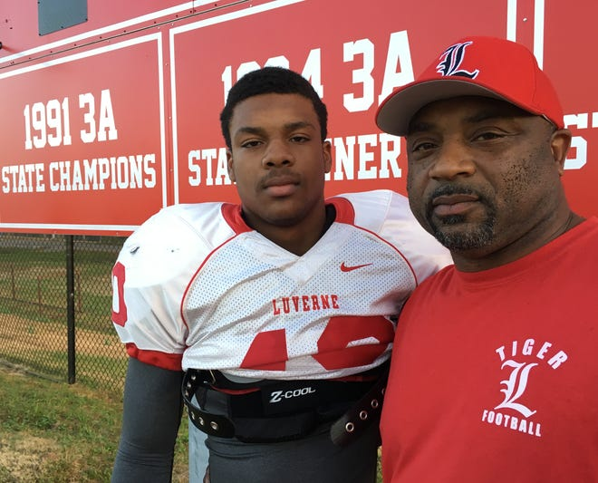 Luverne linebacker Arian Gregory hopes to follow his dad's example. Arrid Gregory was a star on Luverne's 1991 state championship team.