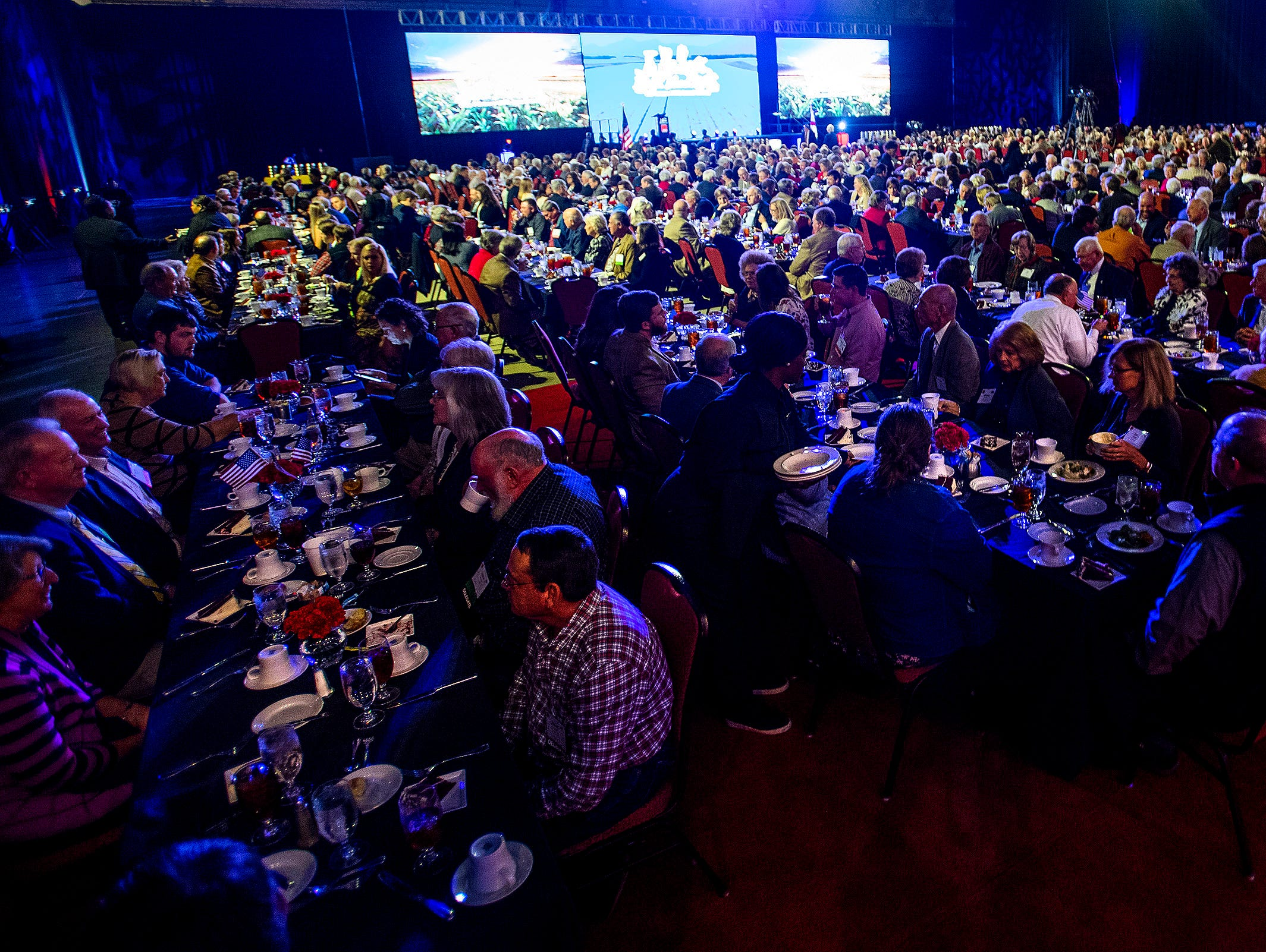 The keynote dinner of the Alfa Farmers Annual Meeting at the Convention Center in Montgomery, Ala., on Monday evening December 3, 2018.