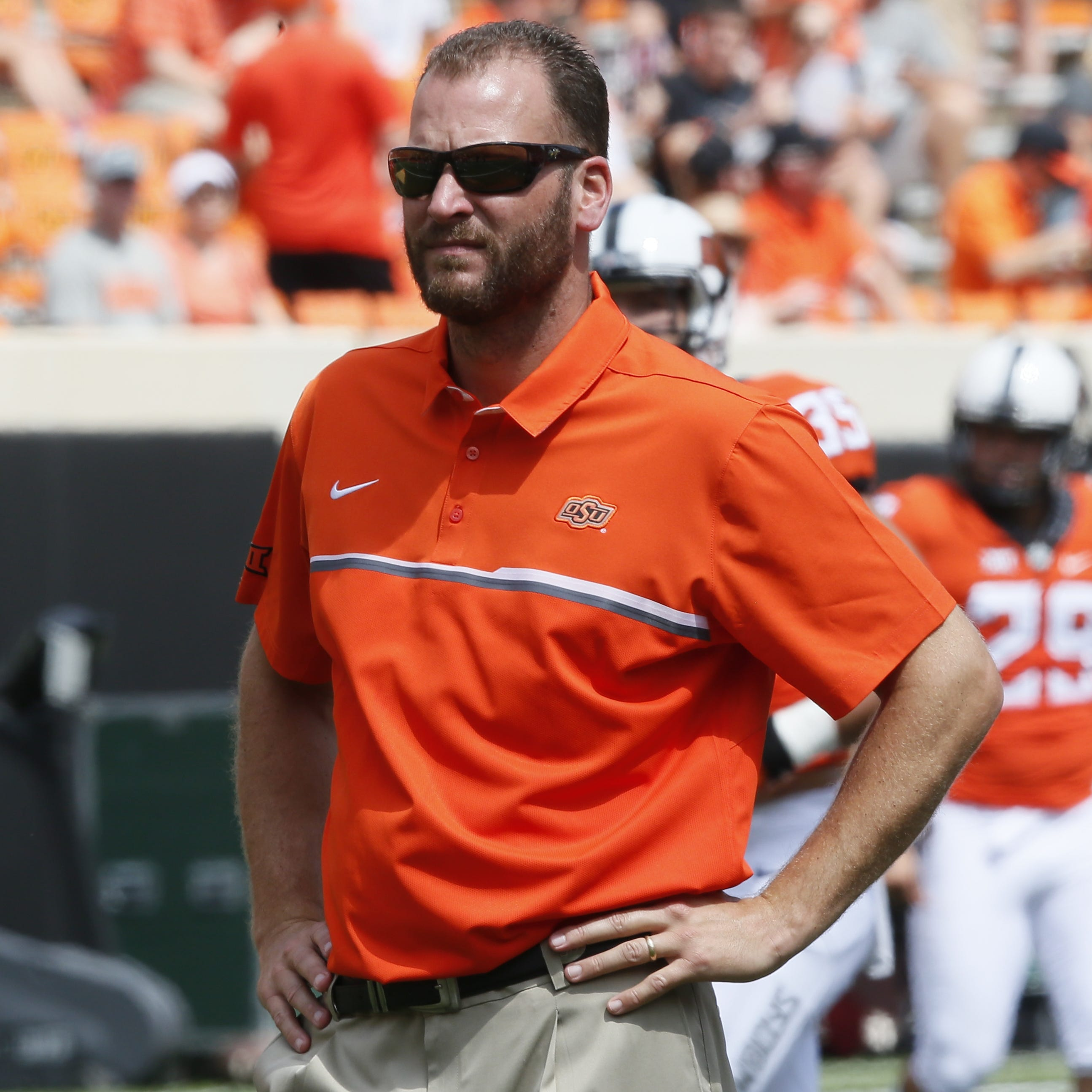 Oklahoma State offensive coordinator Mike Yurcich.
