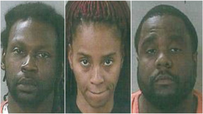 Antonio Johnson (left), Shatika Floyd (center) and Robert Yates (right) face drug charges related to heroin laced with fentanyl.