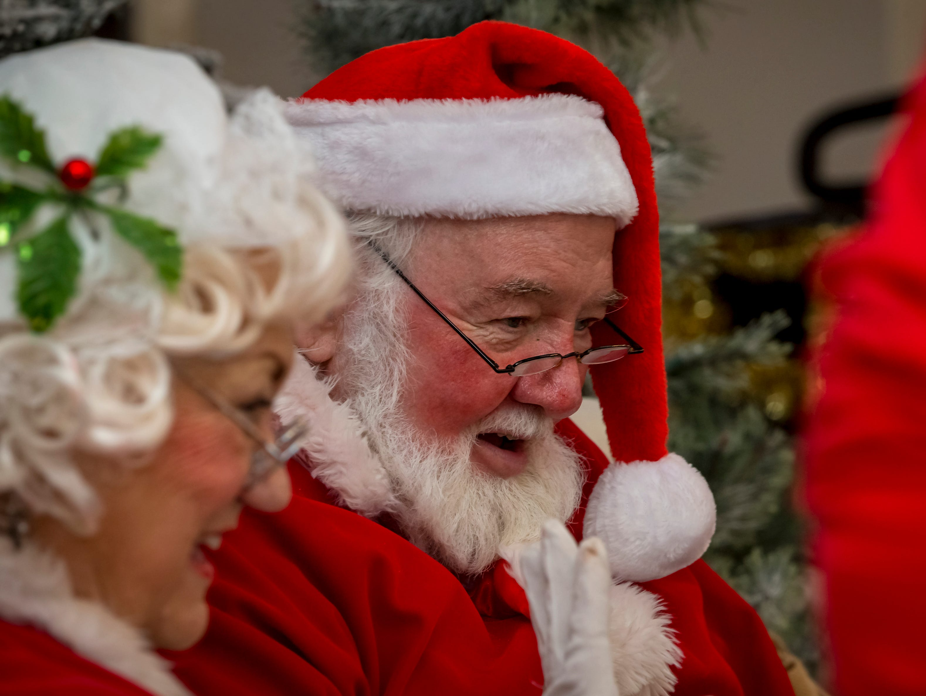 Santa and Mrs. Claus visited Fountains at Gateway Saturday, Dec. 1, 2018.