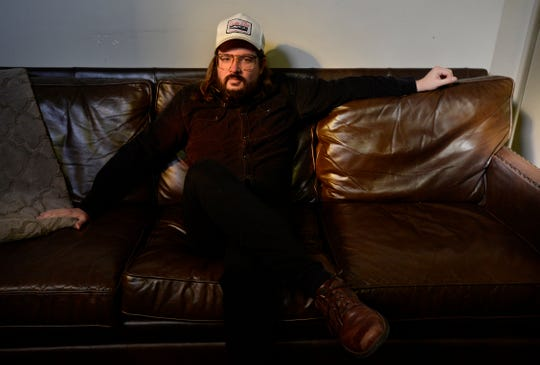 Nashville comedian Dusty Slay inside Zanies on Wednesday, Nov. 21, 2018, in Nashville, Tenn.