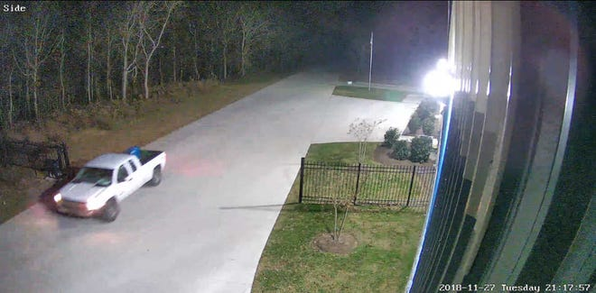 Millersville Police are looking for information about this white truck. It is the suspect vehicle in a business theft that happened on Nov. 27, 2018.
