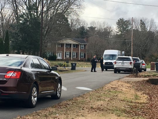Brentwood police on the scene of the shooting death of Clark Cable, 25, on Dec. 4, 2018.