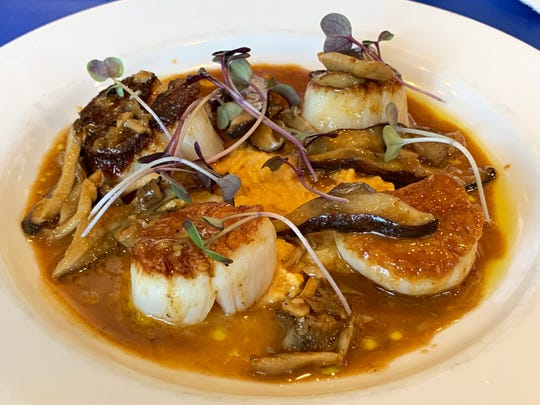 Pan-seared scallops from Campiello