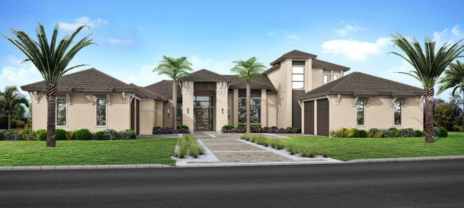 The Warwick model is being built by McGarvey Custom Homes in Audubon Country Club.
