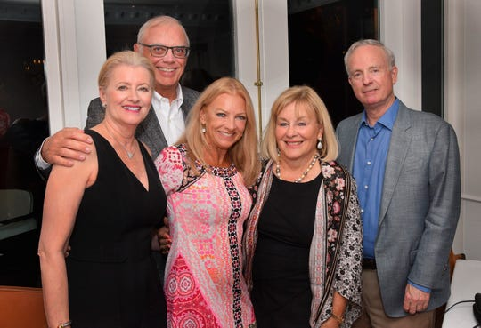 CHEF, the Culinary & Hospitality Education Foundation of Southwest Florida, has new directors and officers. Pictured, from left, at a CHEF dinner at Sails are Diane McCaw, Dan McCaw, Taryn Cafiero, Sherry Mills and Davis Mills.