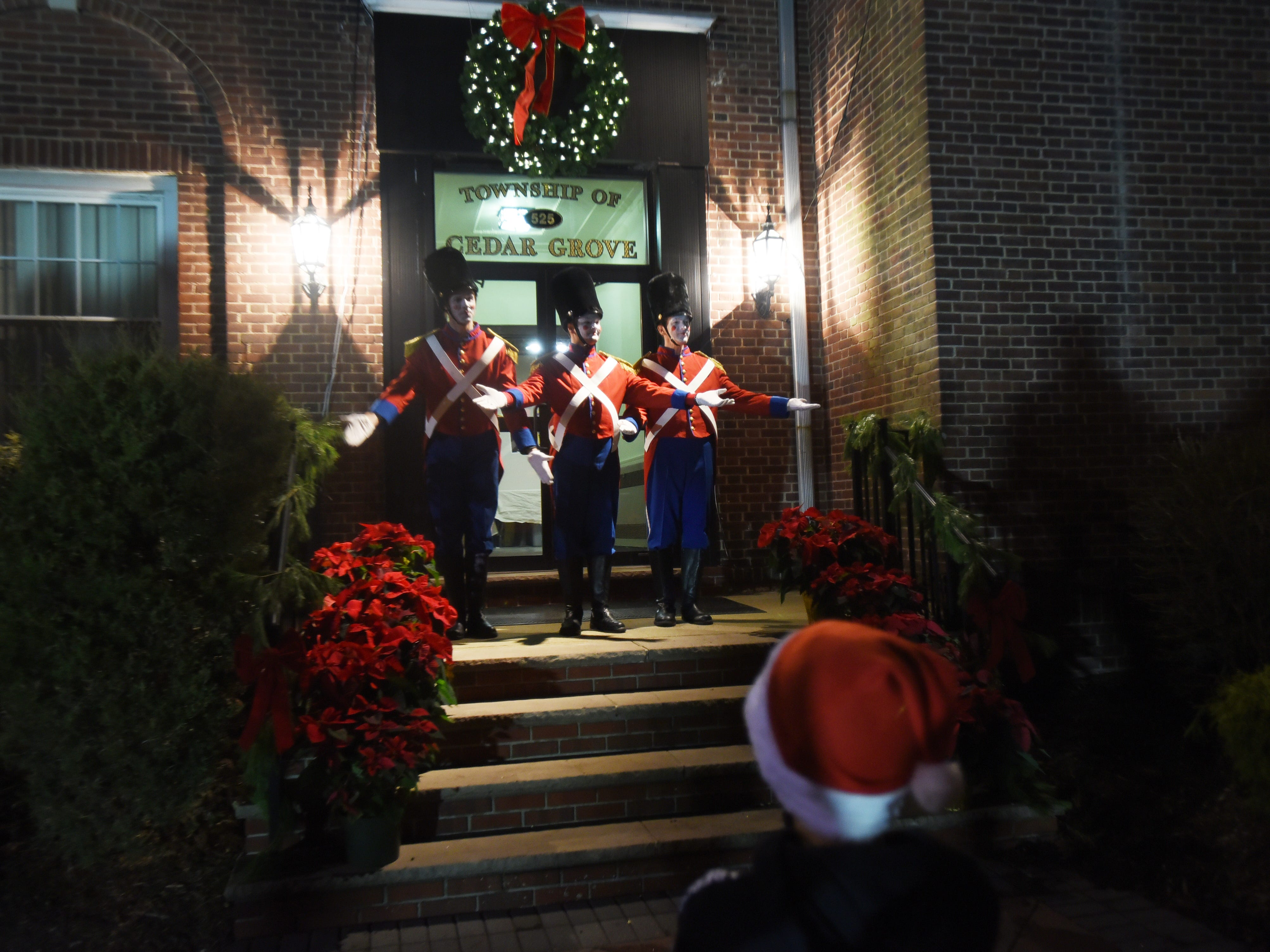 Cobblestone Singing Toy Soldiers sing prior to the Christmas Tree Lighting ceremony at Cedar Grove Town Hall on 12/03/18.
