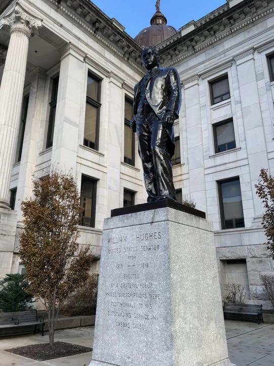 The monument to William Hughes