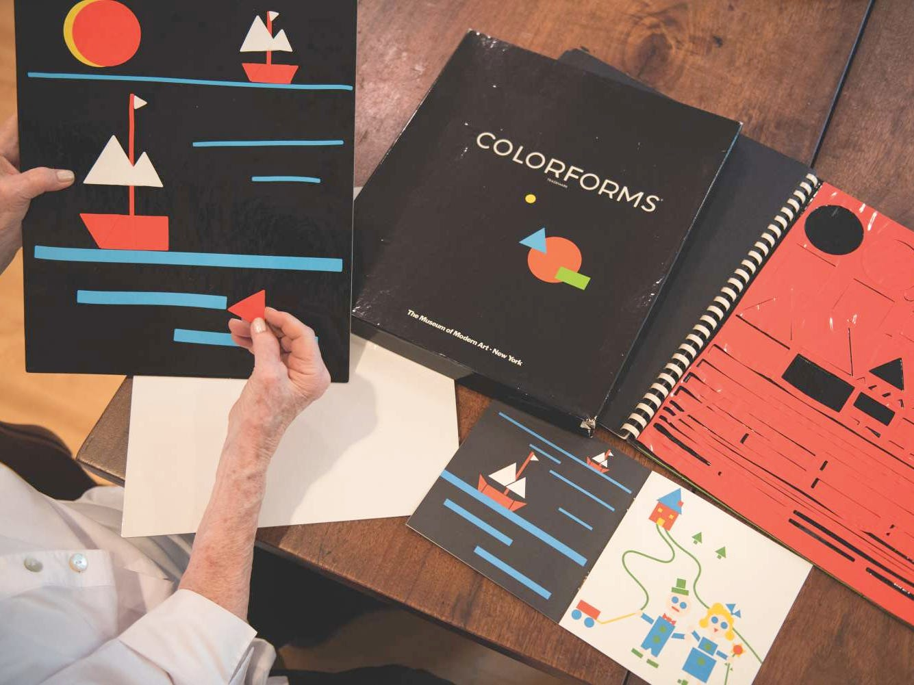 Colorforms - the iconic toy featuring vinyl shapes that stick to a screen,  grew from the basement of a River Edge couple''s home in the 1950s.
