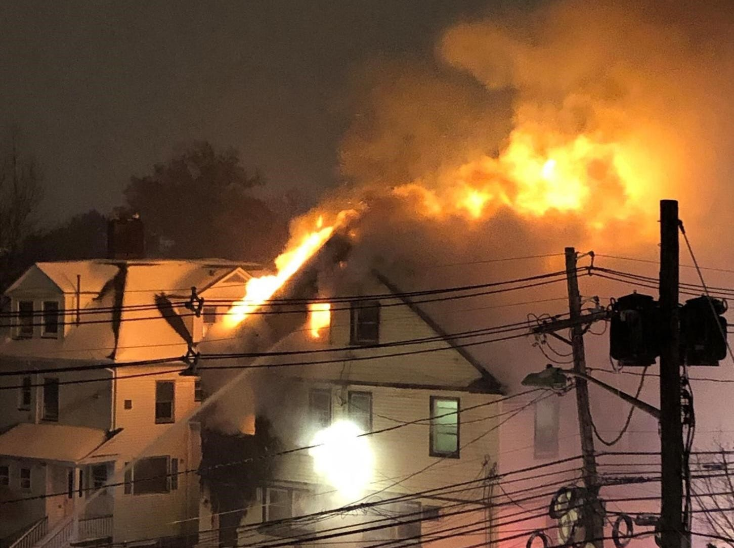 A fire gutted a rooming house on Valley Road and Walnut Street in Montclair on November 15, 2018.
