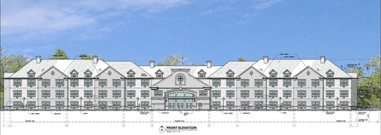 A rendering of senior housing that's planned in Fair Lawn.