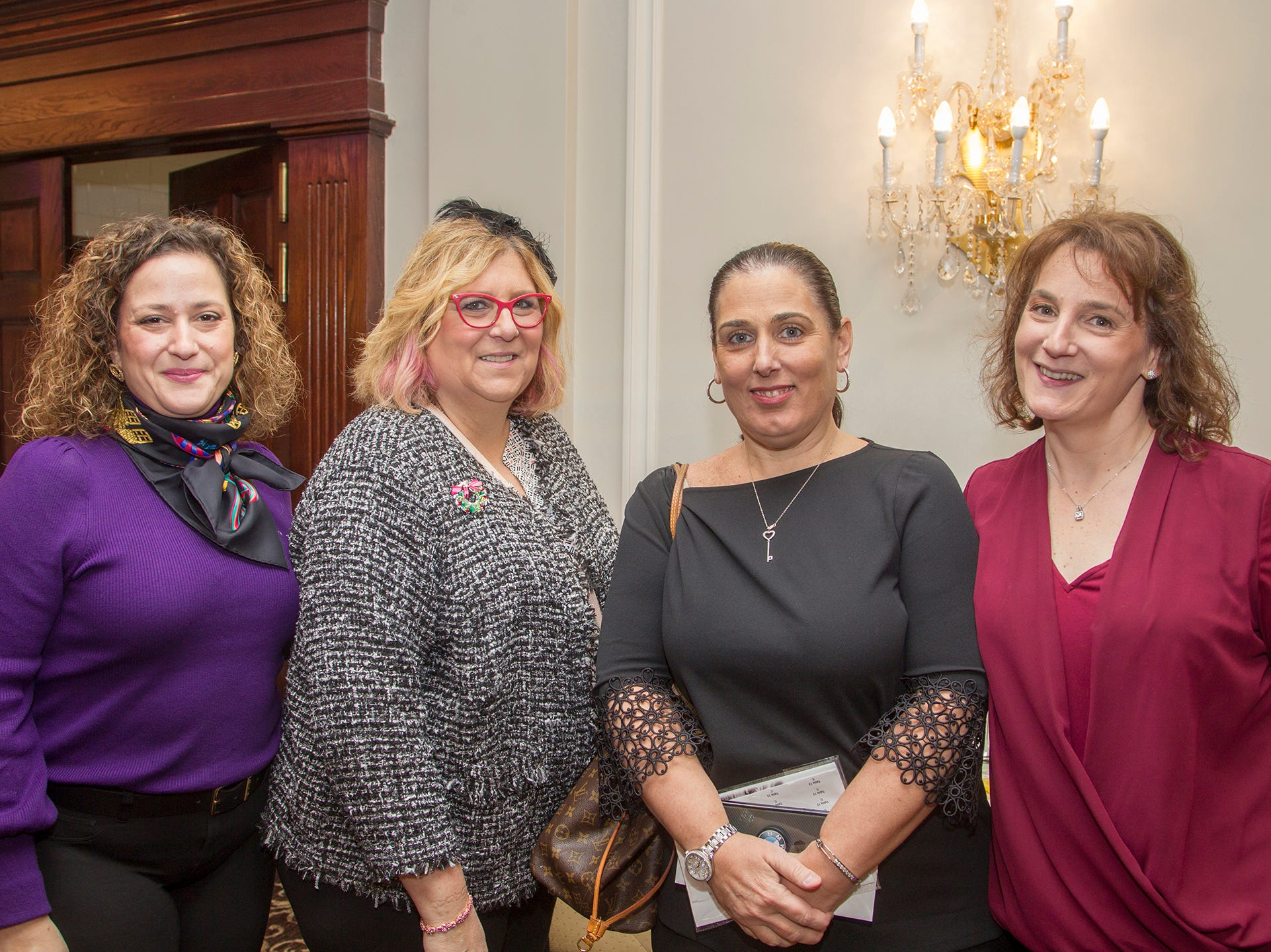 Erica Liwares, Terry Perria, Diane Carbone, Wendy DeGennaro. Immaculate Heart Academy held its annual Fashion Show fundraiser at Florentine Gardens in River Vale. 12/02/2018
