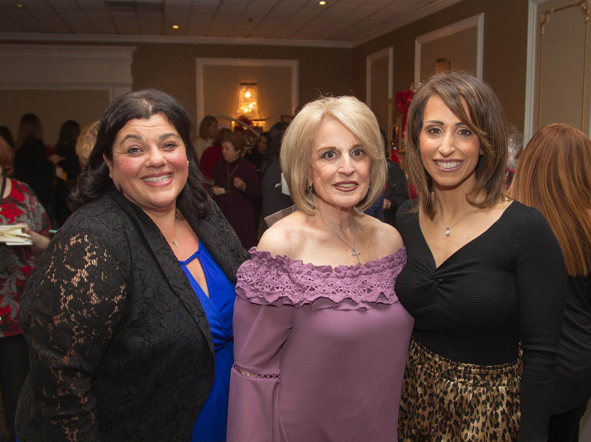 Yolanda Semelsberger, MaryLou Paolino, Nicole Marlan. Immaculate Heart Academy held its annual Fashion Show fundraiser at Florentine Gardens in River Vale. 12/02/2018