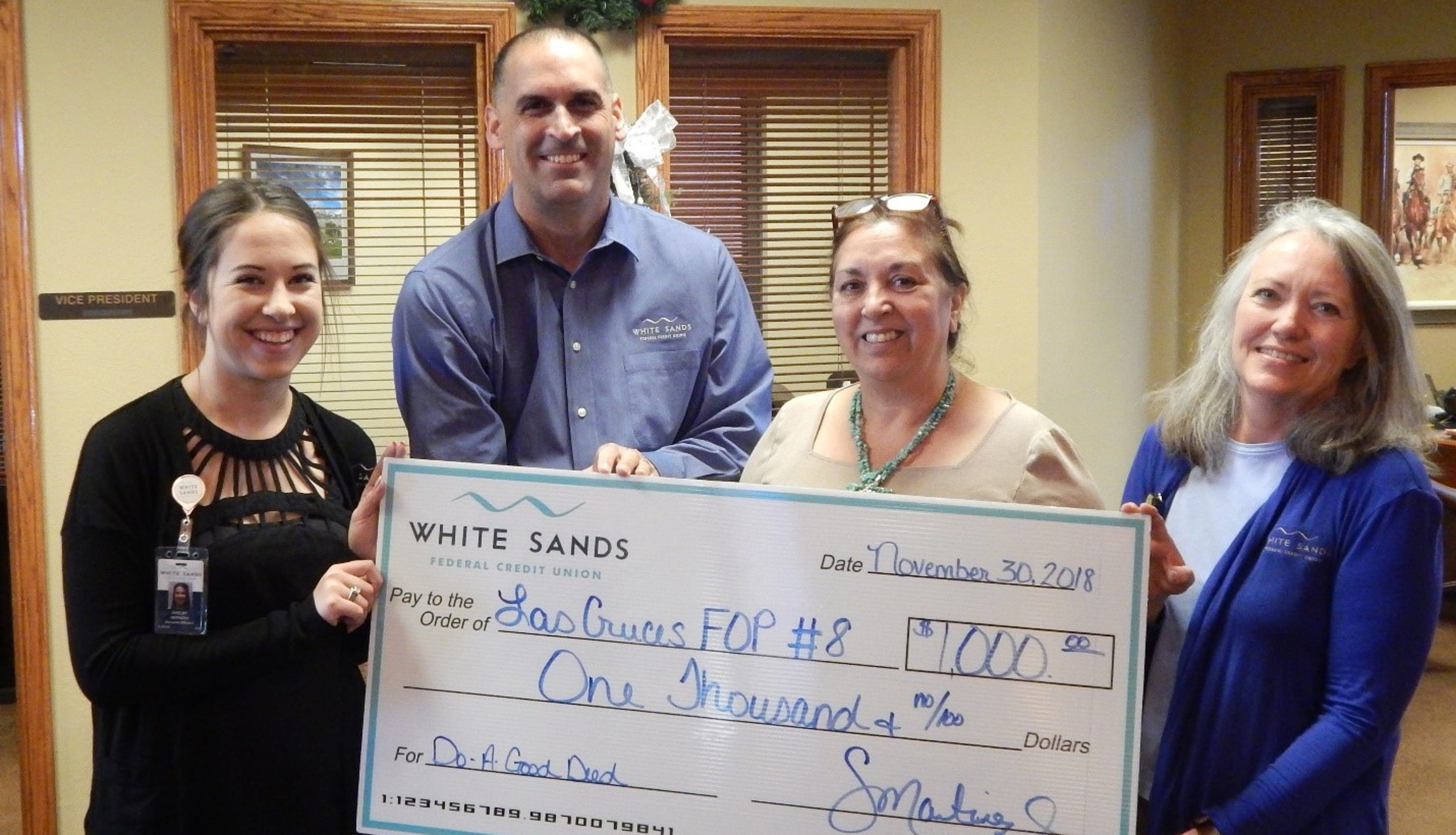 White Sands Fcu Donate 1 000 To Police Shop With A Cop Program