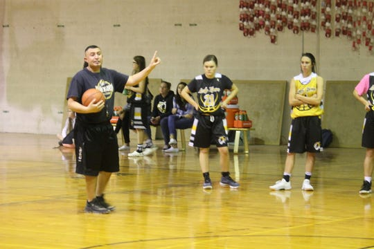 Manny Vigil returns this year for his third season as the Alamogordo girls varsity basketball coach.