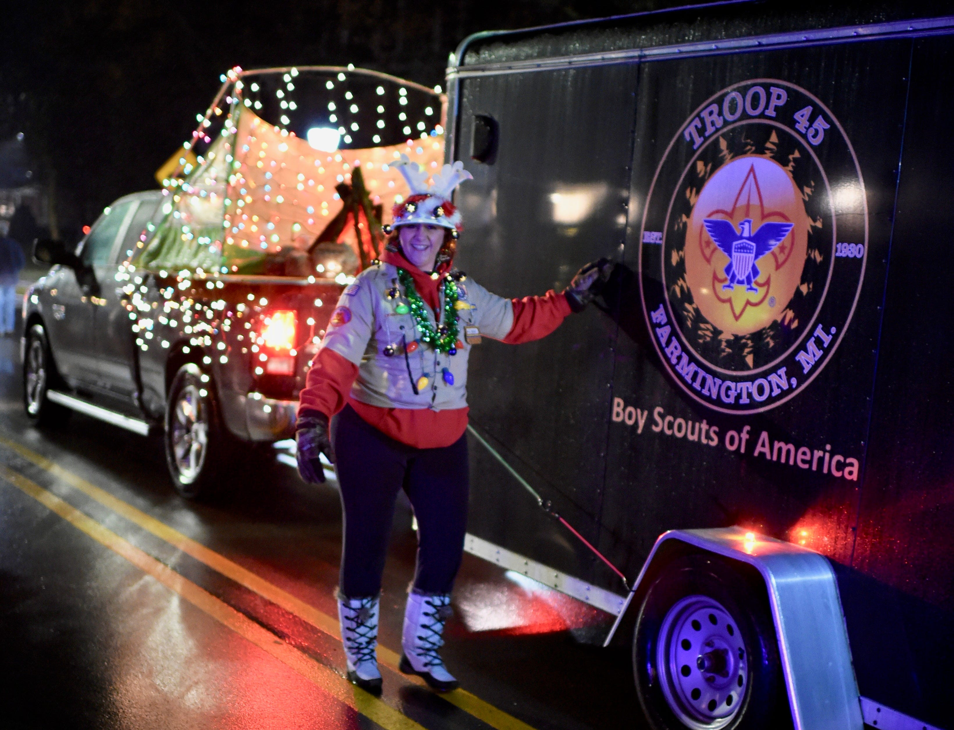 Boy Scout Troop #45 came prepared during the annual parade.