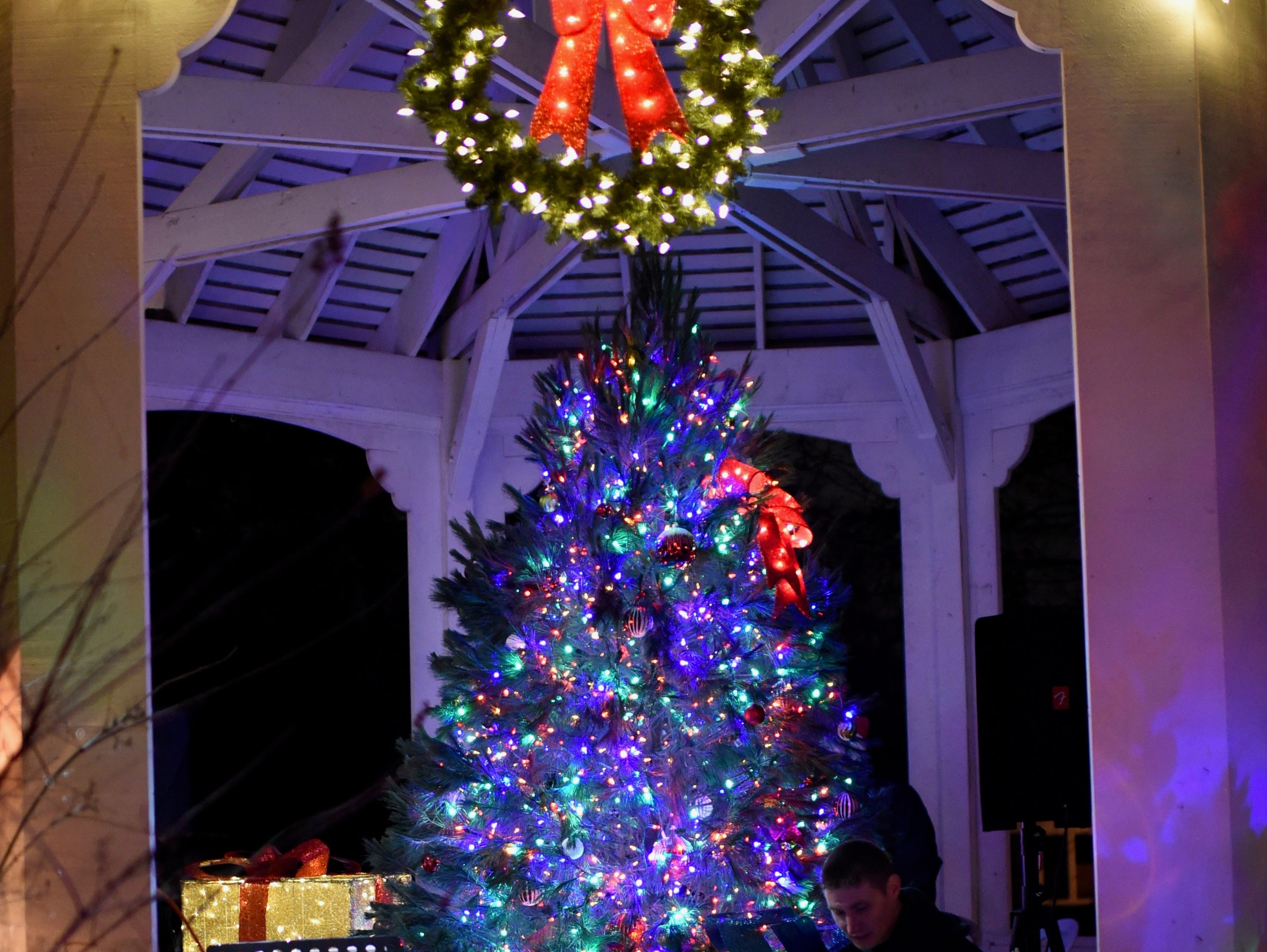 Beautiful tree adds to the charm of Warner Mansion in Farmington.