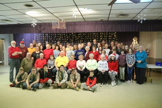 Some 85 volunteers helped wrap gifts to be delivered to hospitalized and homeless veterans.