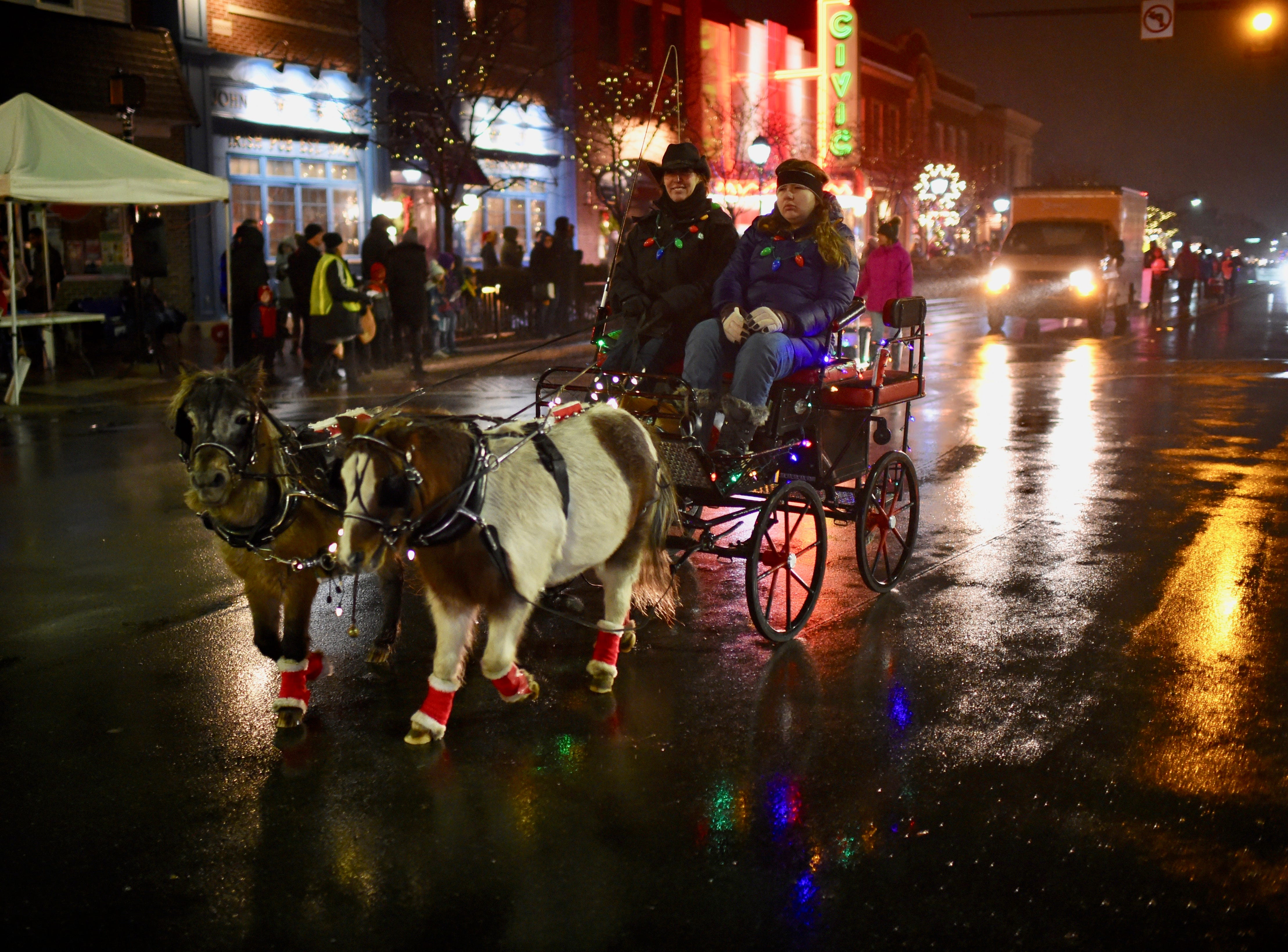 """Camp Casey bring out their beautiful ponies at this year's """"Light up the Grand"""" parade."""