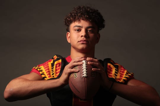 Palm Desert football player Honore Solomon in November 30, 2018 in Palm Springs.
